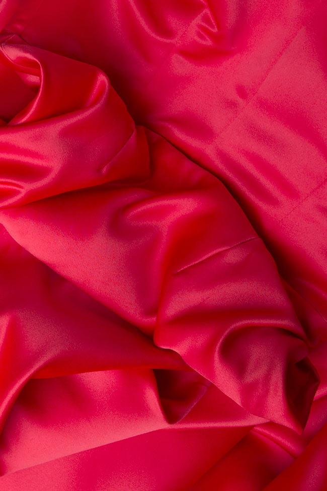 Rochie maxi din tafta tip sirena Cloche imagine 3