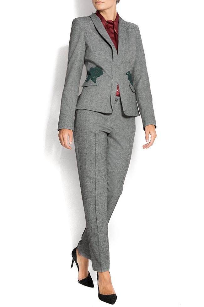 Embroidered blazer with peplum back Lena Criveanu image 0