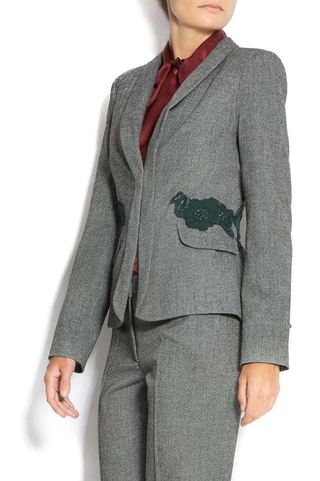 Embroidered blazer with peplum back Lena Criveanu image 1