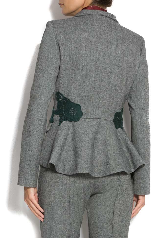 Embroidered blazer with peplum back Lena Criveanu image 3