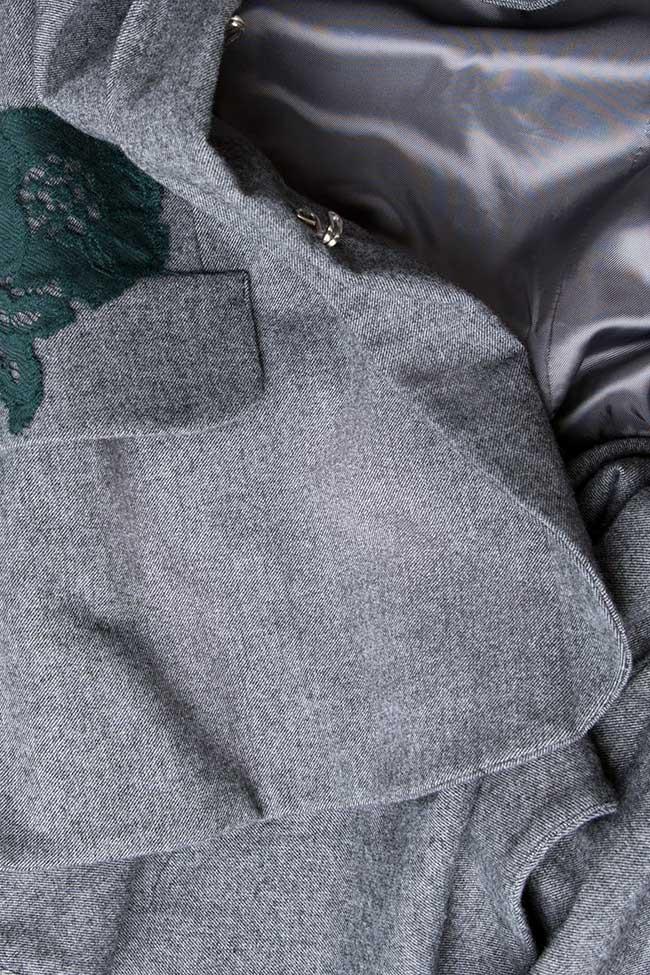 Embroidered blazer with peplum back Lena Criveanu image 4