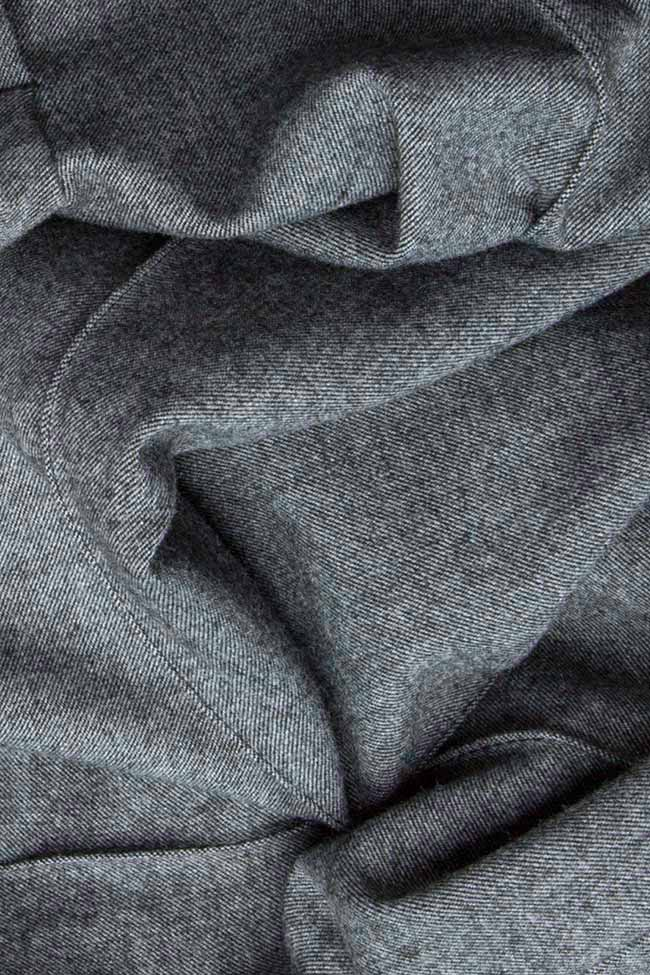 Pantaloni din stofa de lana cu buzunare Lena Criveanu imagine 3