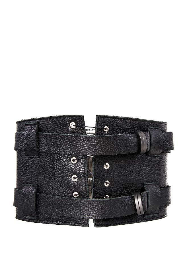 Leather waist belt Zenon image 0