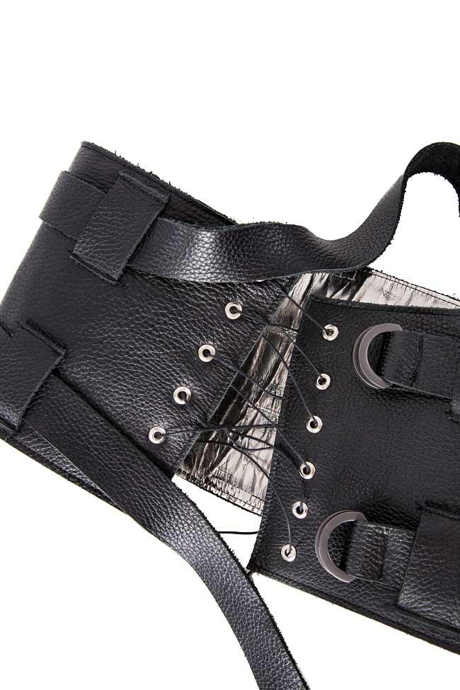 Leather waist belt Zenon image 2