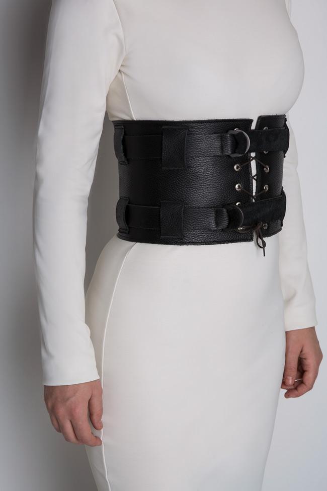 Leather waist belt Zenon image 3