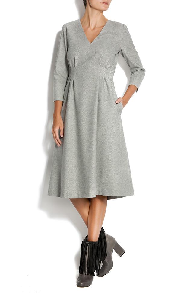 Rochie midi din stofa de lana Claudia Castrase imagine 0