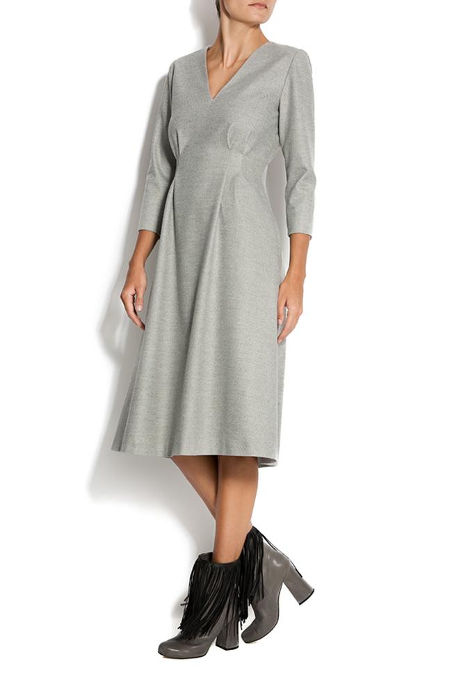 Rochie midi din stofa de lana Claudia Castrase imagine 1