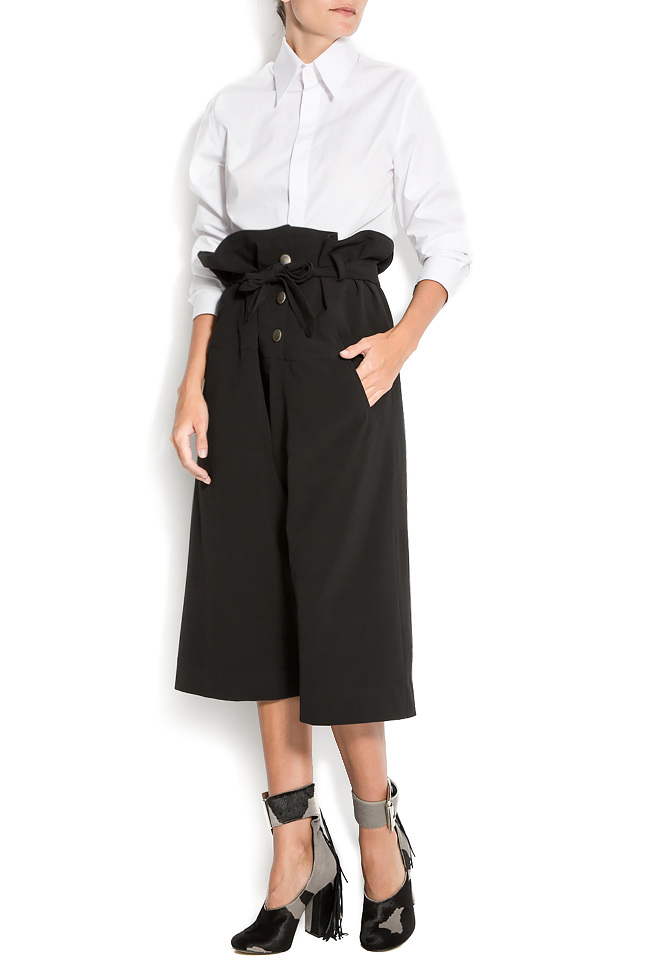 Cropped cotton wide-leg pants Reprobable image 0