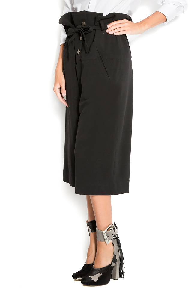 Cropped cotton wide-leg pants Reprobable image 1