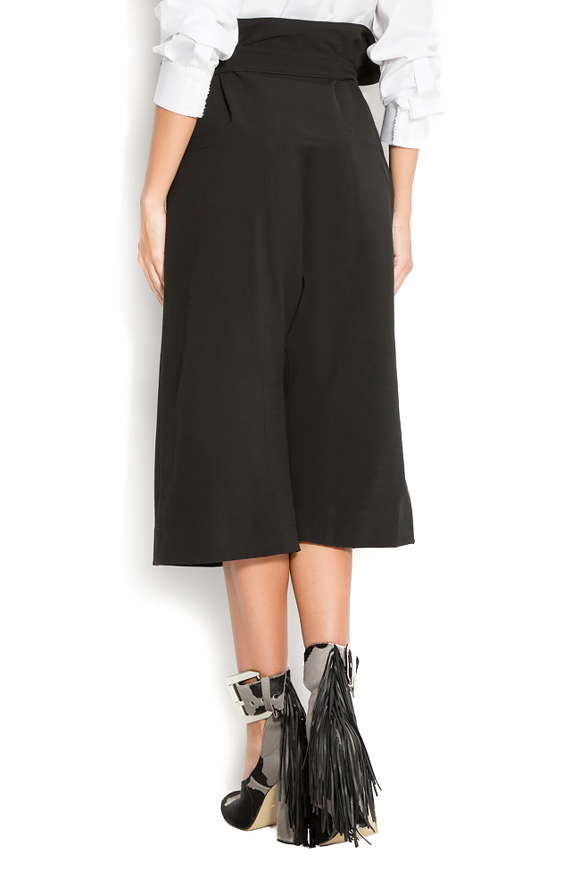 Cropped cotton wide-leg pants Reprobable image 2