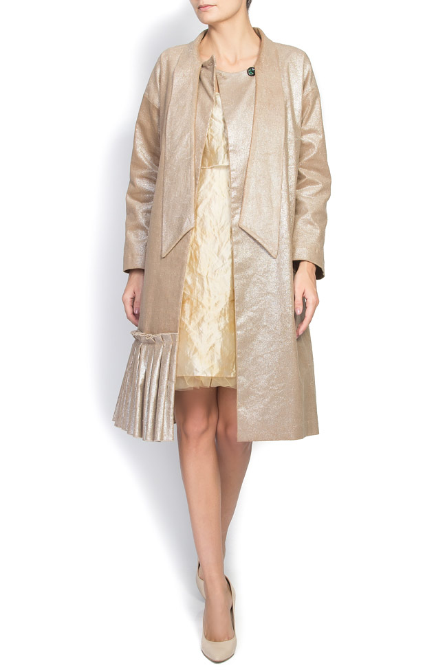 Palton din bumbac CARE DALB by Mihaela Dulgheru imagine 3