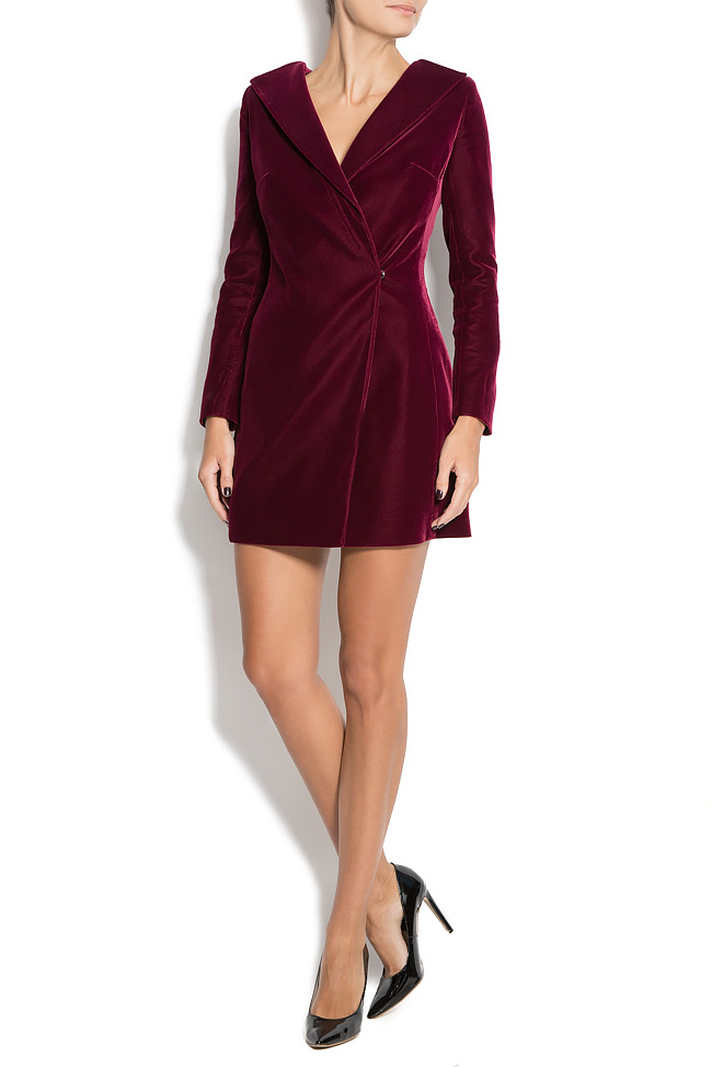 DINA wrap-effect velvet dress M Marquise image 0