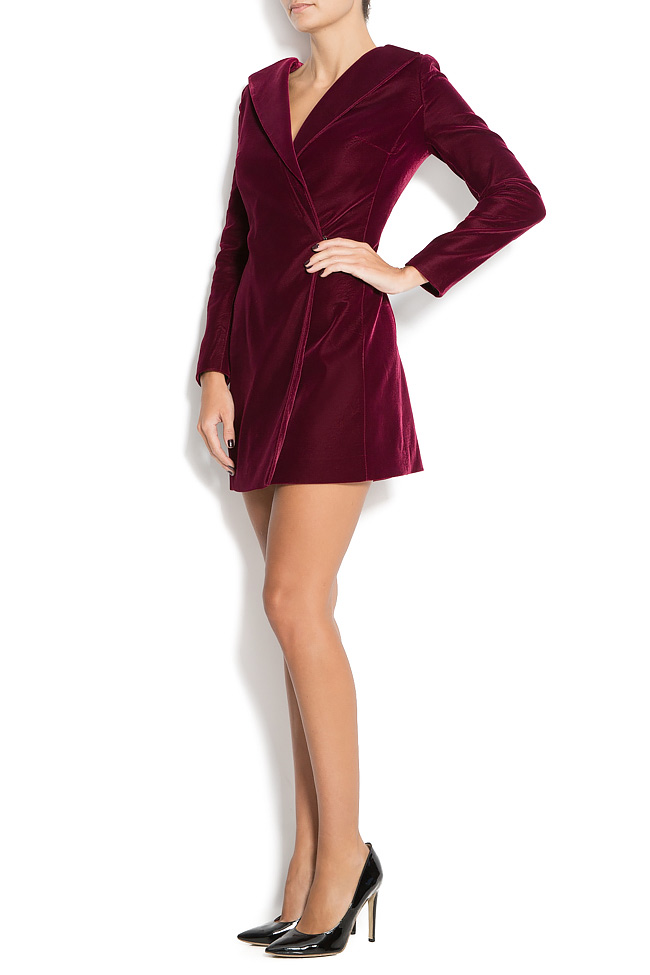 DINA wrap-effect velvet dress M Marquise image 1