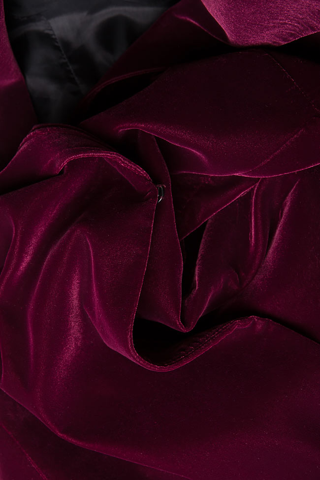DINA wrap-effect velvet dress M Marquise image 3