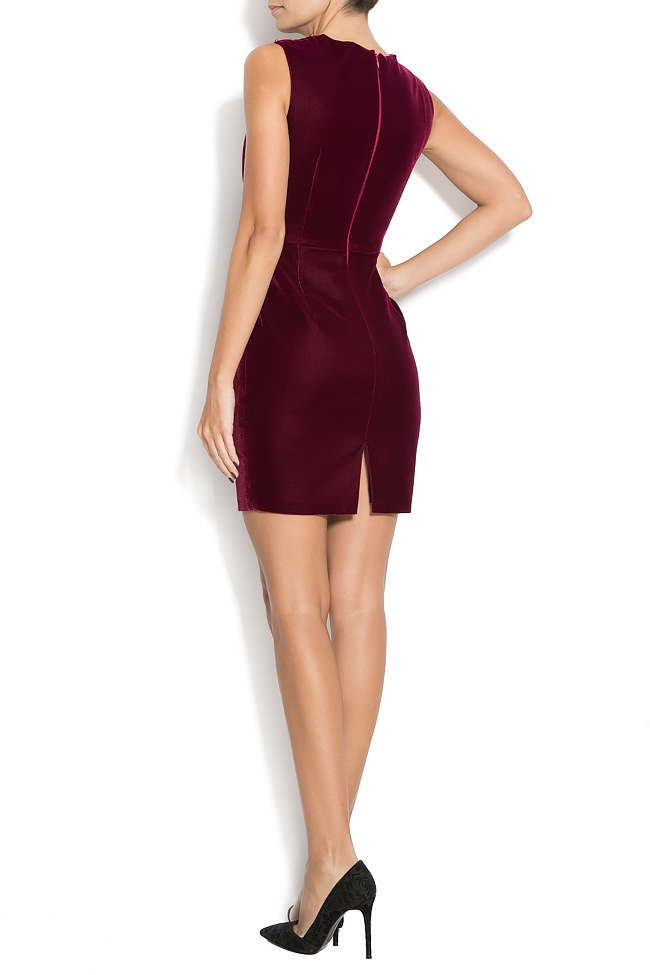 ANNIKA velvet mini dress with pearl applications M Marquise image 2