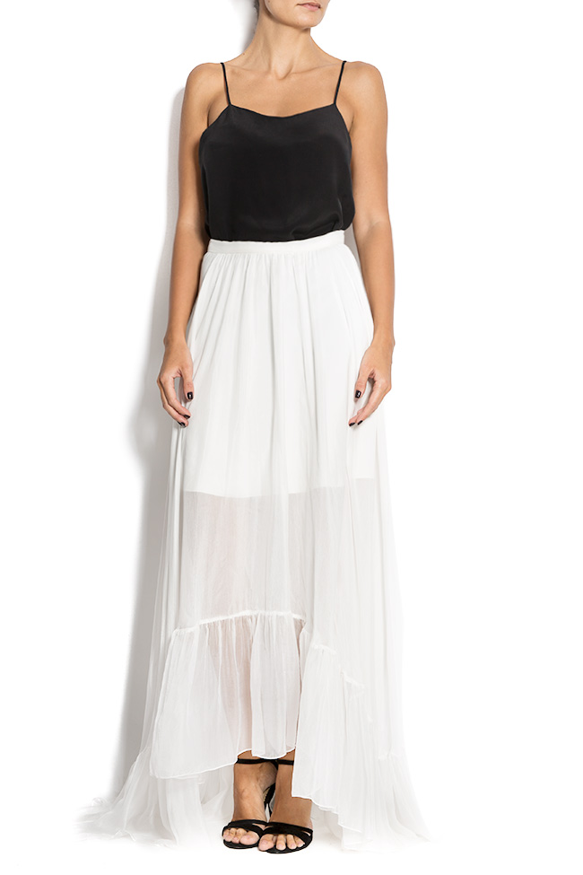 Silk-mousseline maxi skirt Aureliana image 0