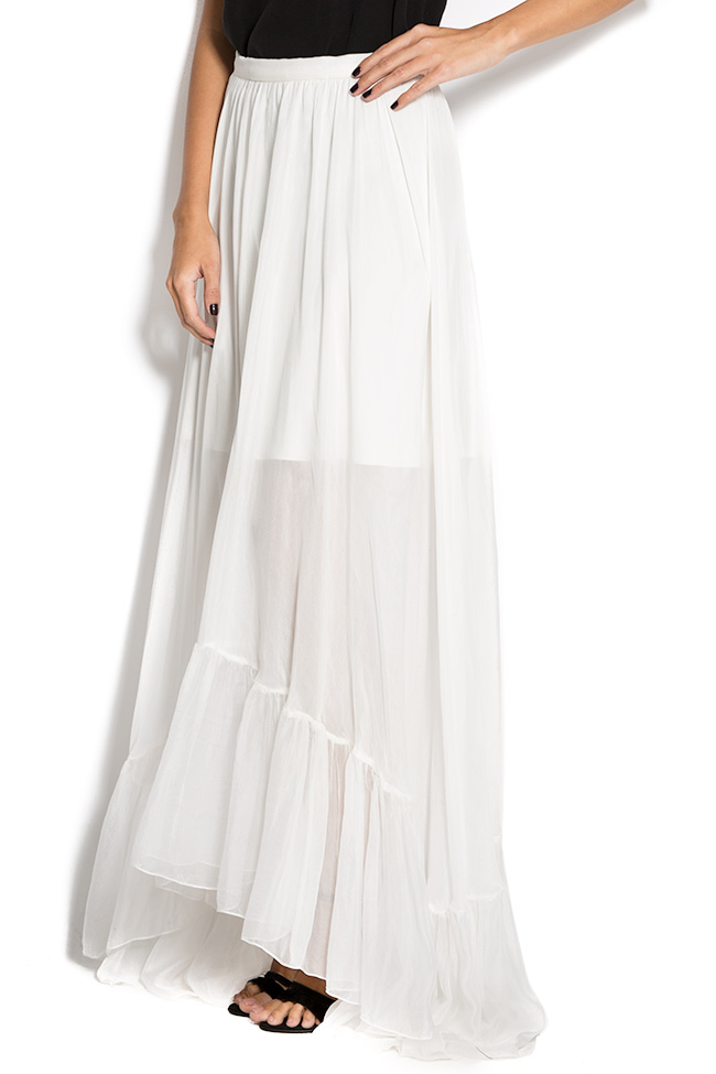 Silk-mousseline maxi skirt Aureliana image 1