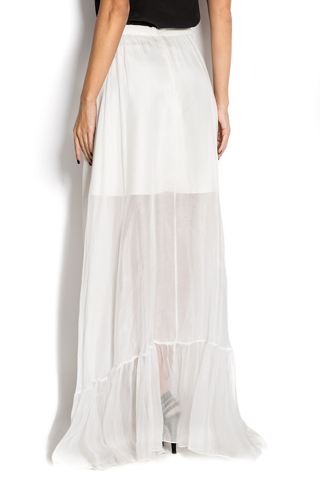 Silk-mousseline maxi skirt Aureliana image 2