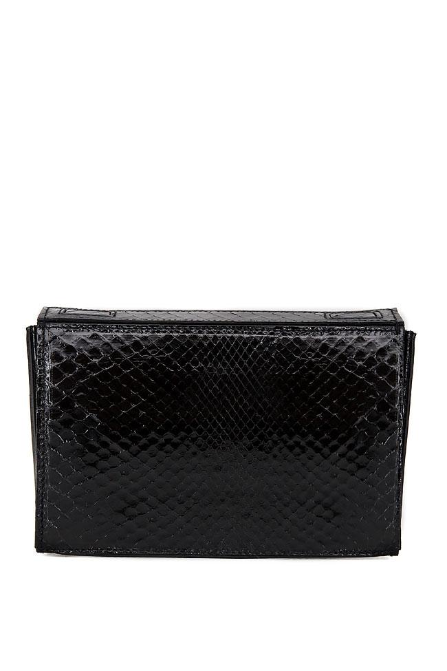 SOFIA box leather clutch Wild Inga image 2
