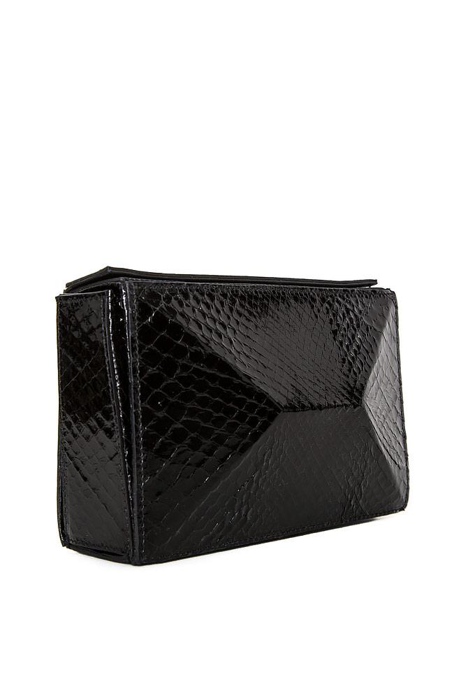 SOFIA box leather clutch Wild Inga image 1