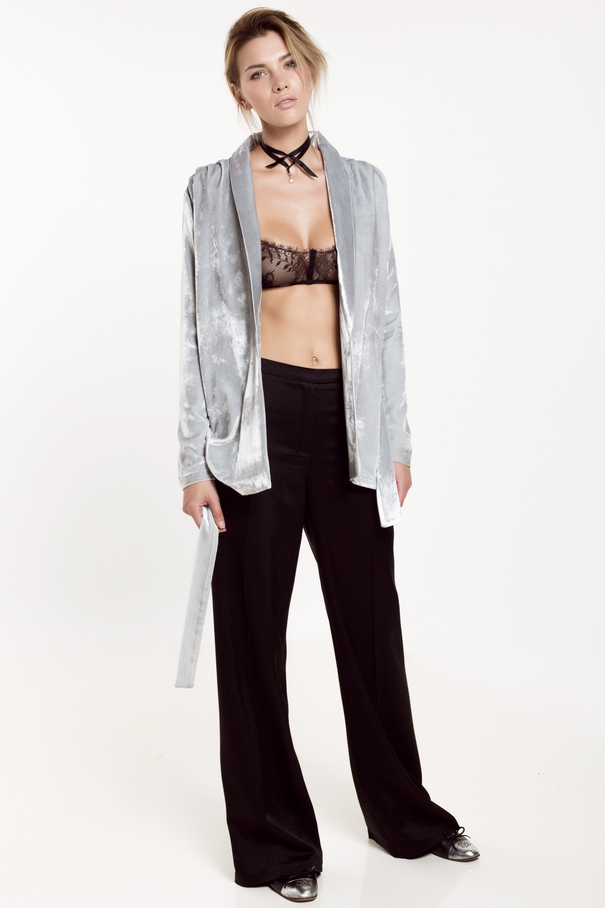 Silk wide-leg pants Aureliana image 4
