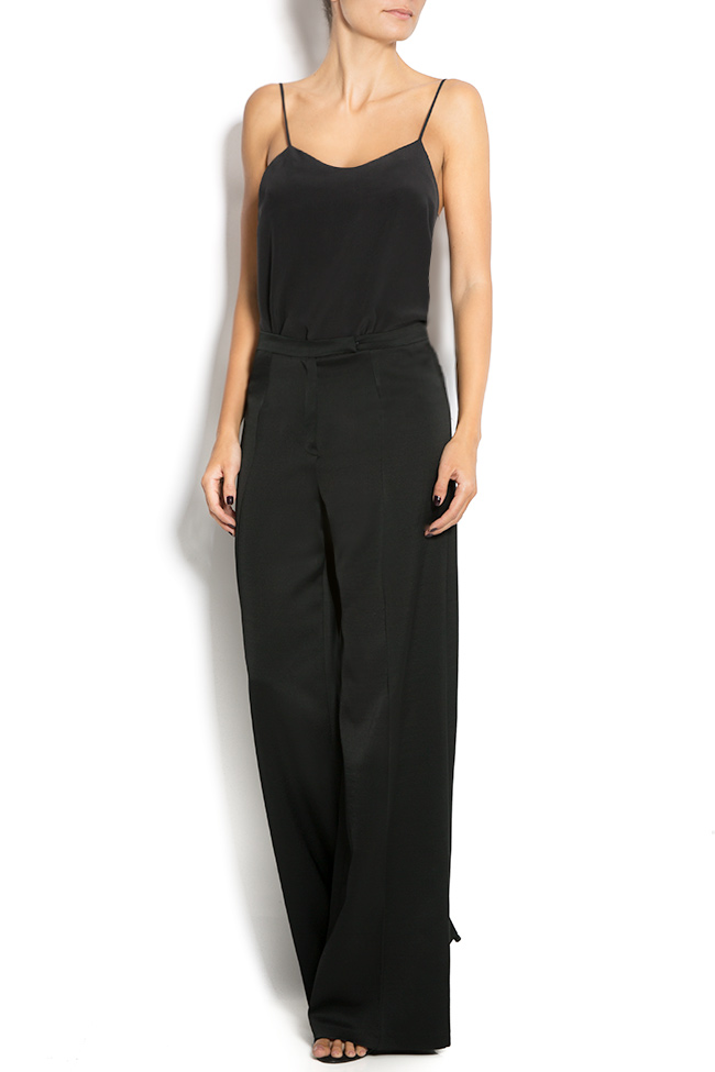 Silk wide-leg pants Aureliana image 0