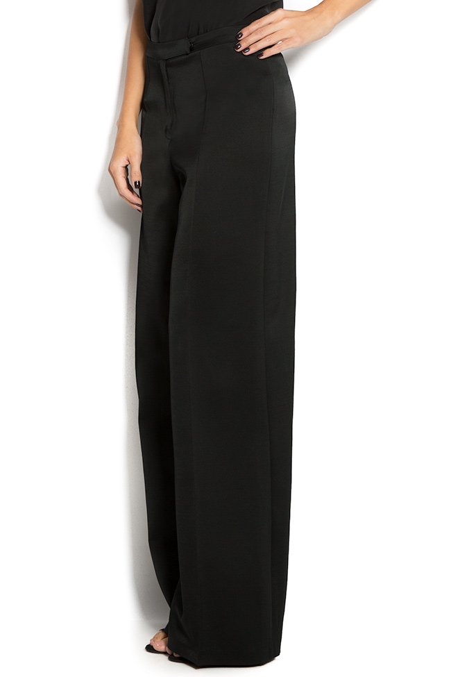 Silk wide-leg pants Aureliana image 1