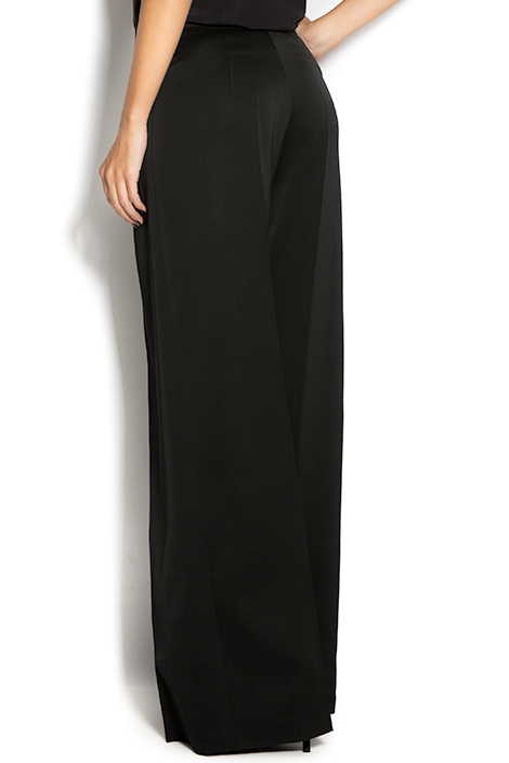 Silk wide-leg pants Aureliana image 2