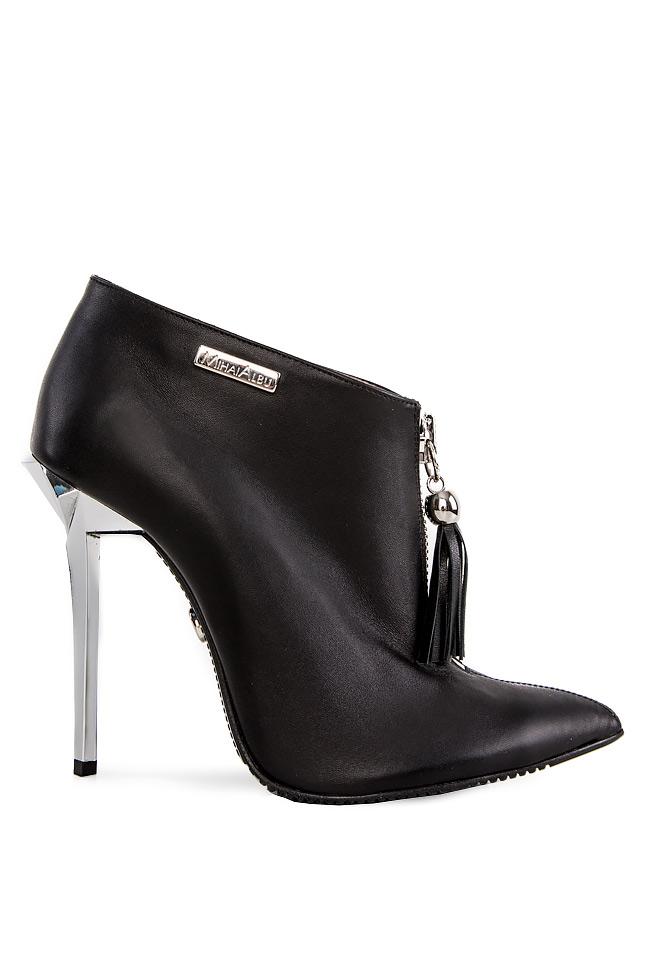 Tasseled leather ankle boots Mihai Albu image 0