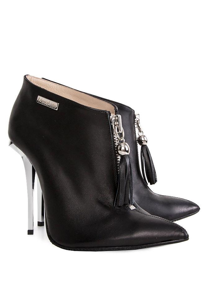 Tasseled leather ankle boots Mihai Albu image 1