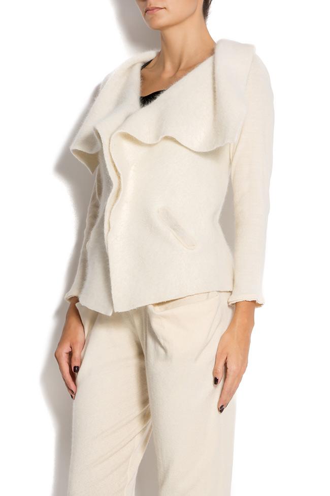 Angora-blend wool cardigan Arona Carelli image 1