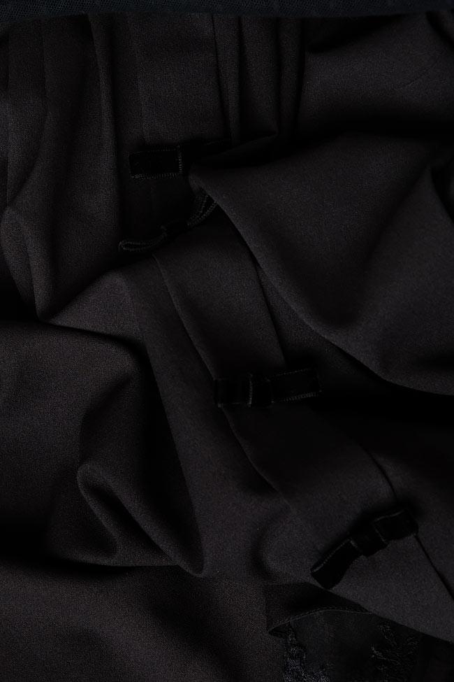Bluza din organza brodata cu aplicatii manuale EMILY M Marquise imagine 3