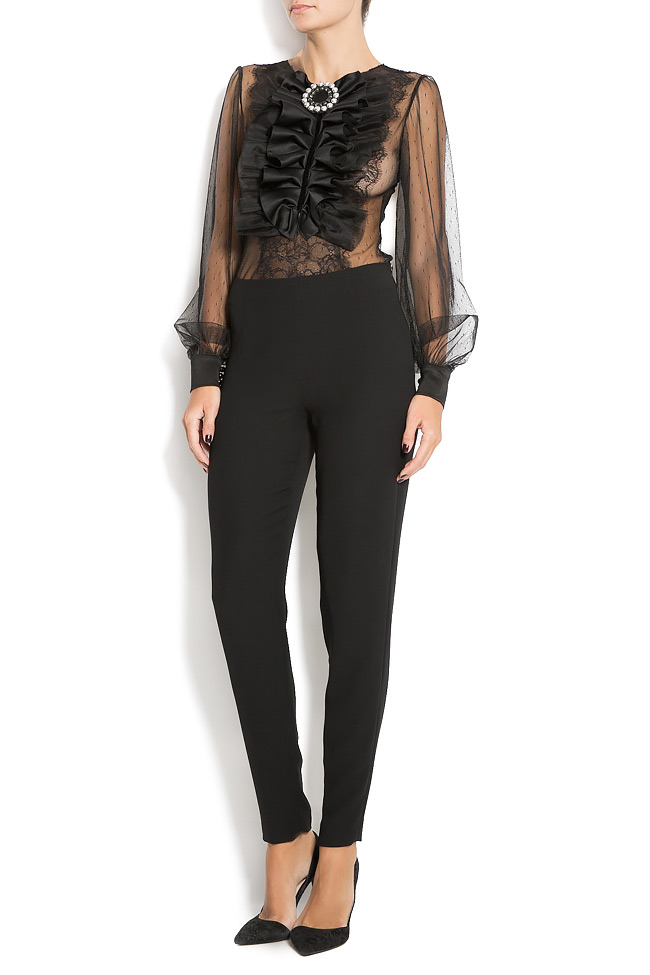 Crepe tapered pants M Marquise image 0