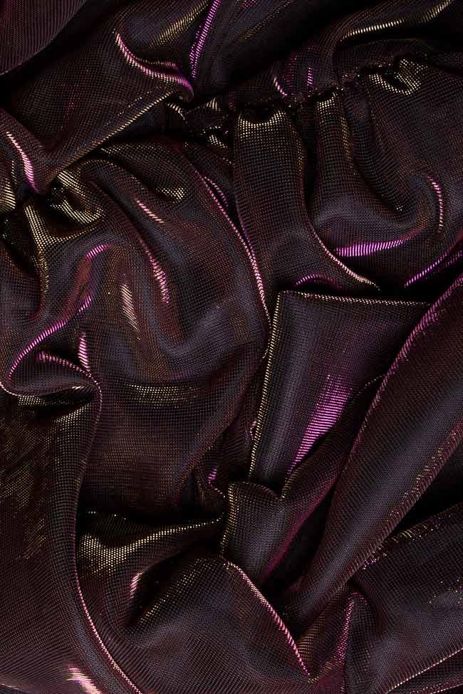 Rochie din tul cu irizatii metalice Arina Varga imagine 3