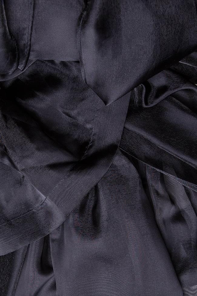 Bluza din tul cu cordon Arina Varga imagine 3