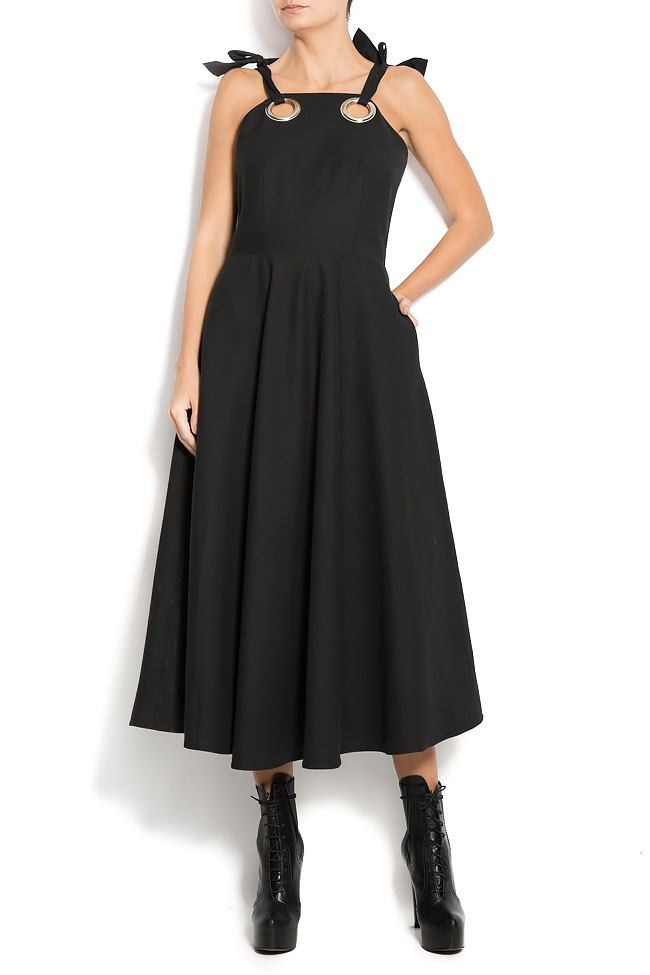 Wool-blend and silk dress Aer Wear image 0