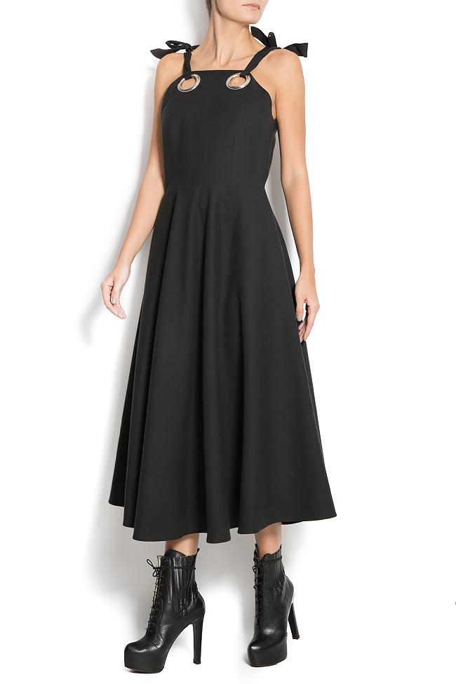 Wool-blend and silk dress Aer Wear image 1