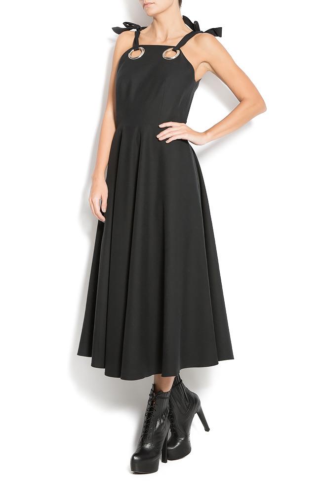 Wool-blend and silk dress Aer Wear image 2
