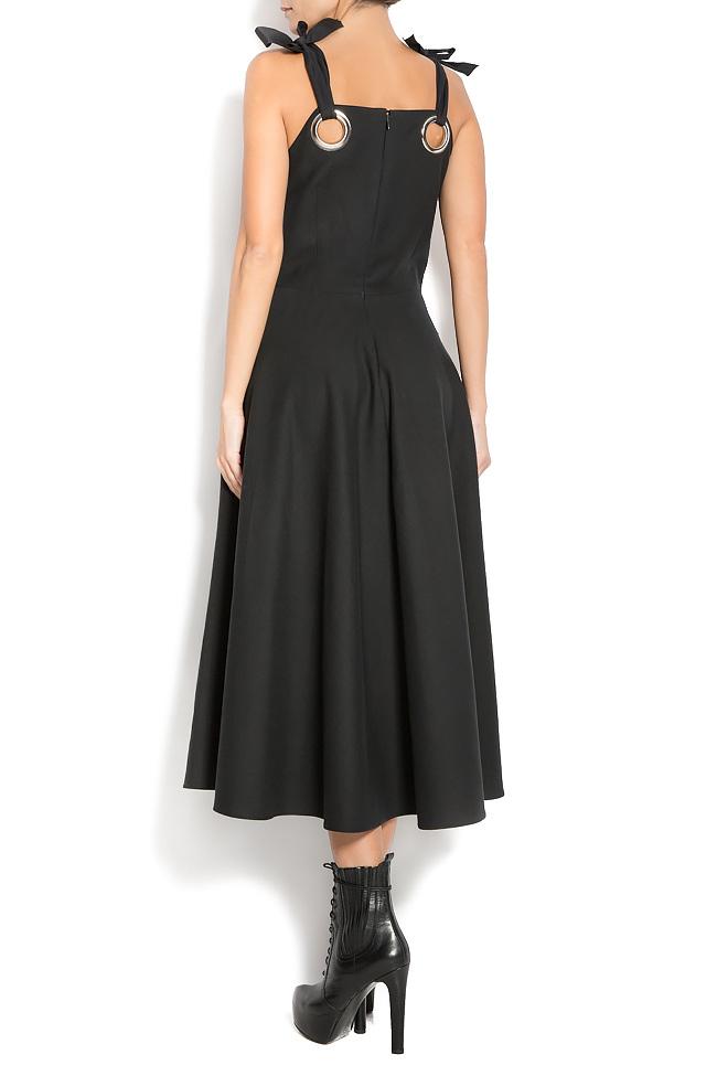 Wool-blend and silk dress Aer Wear image 3