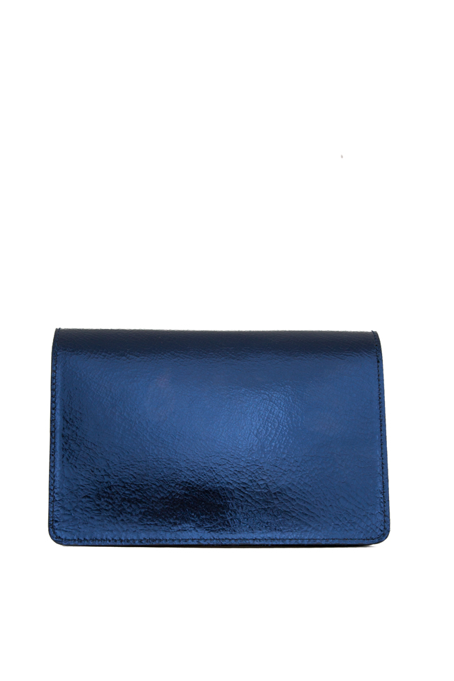 BARBARA metallic leather clutch Wild Inga image 2