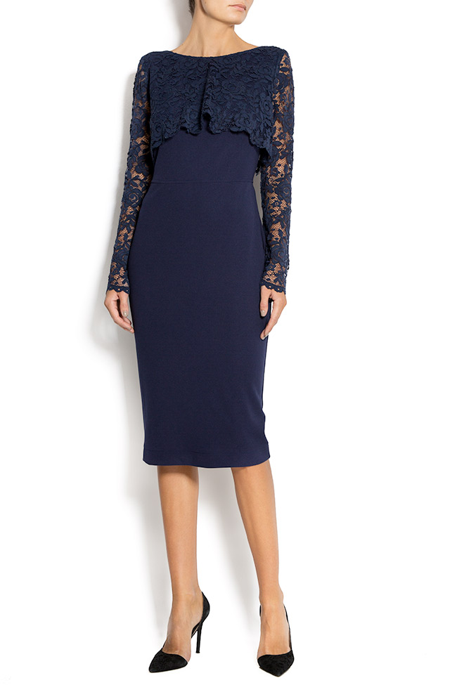 Lace and crepe midi dress Love Love  image 0