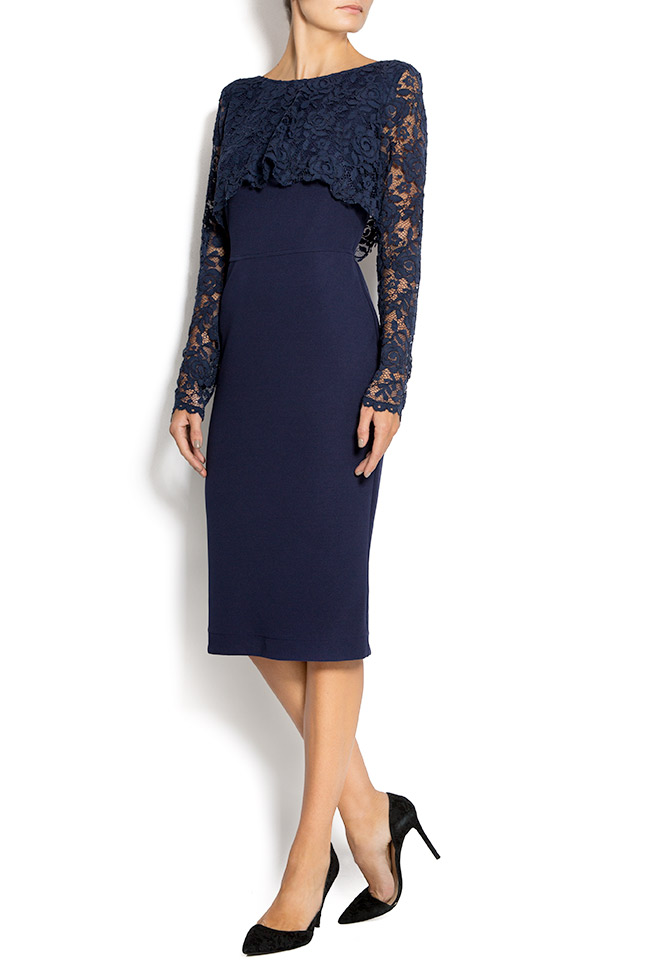 Lace and crepe midi dress Love Love  image 1