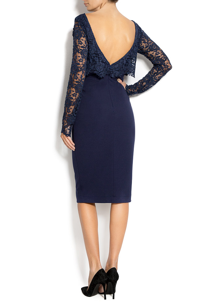 Lace and crepe midi dress Love Love  image 2