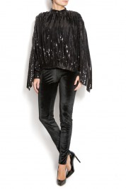 ATU Body Couture Sequined-embroidered bomber jacket