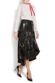 ATU Body Couture Sequined cotton turtleneck