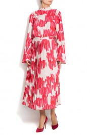 Ioana Ciolacu Rosie printed satin dress