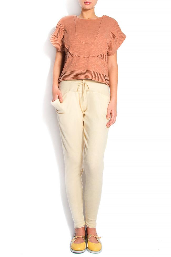 Cotton-blend cigarette type pants Arona Carelli image 0