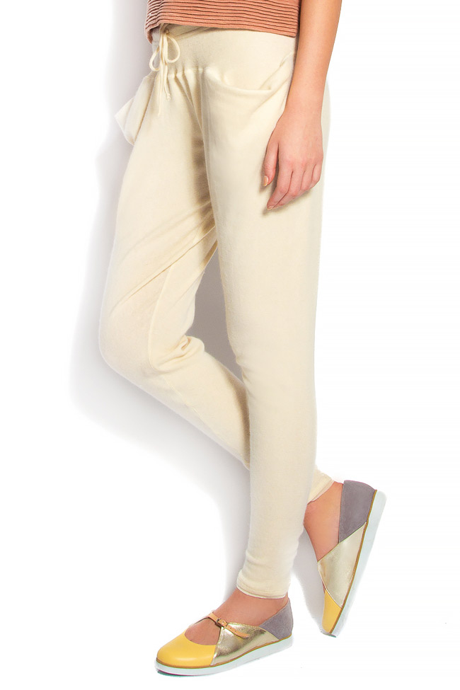 Cotton-blend cigarette type pants Arona Carelli image 1