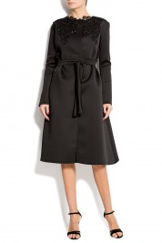 Atelier Jaisse Belted neoprene coat