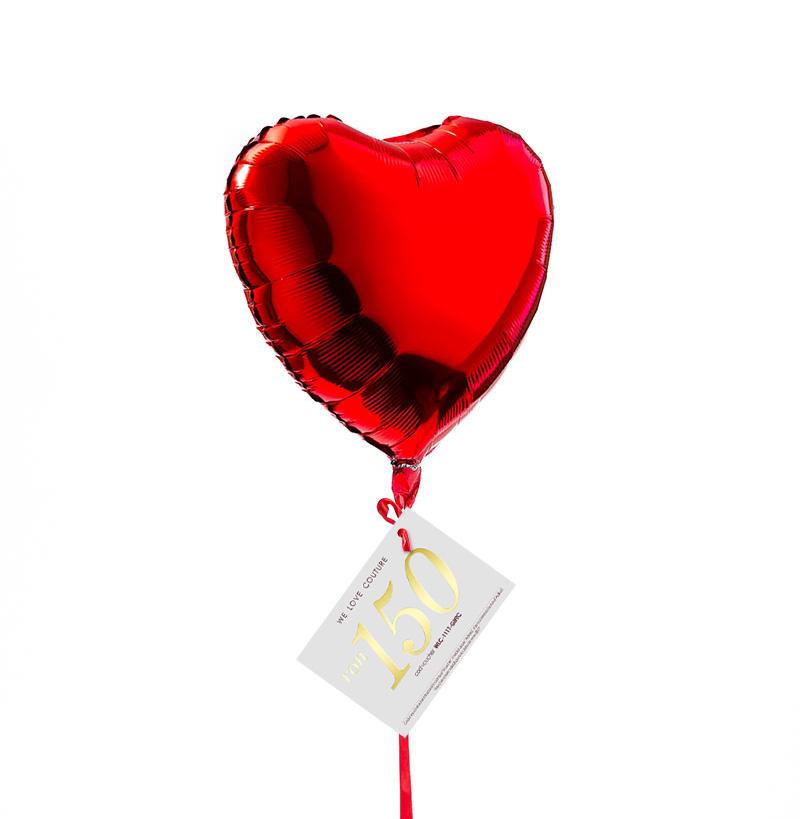 Balonul iubirii cu voucher cadou WE LOVE COUTURE GIFTS imagine 0
